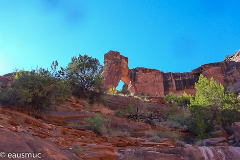 Hunter Arch am Canyonrand